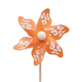 Windmill Jazz 9cm on 50cm stick orange