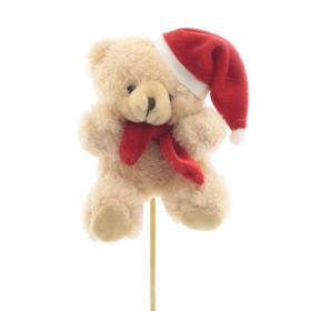 Bear Lou 10x8cm on 50cm stick light brown