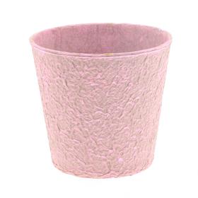 """Paper Pulp Pot Carta 4"""" pink"""