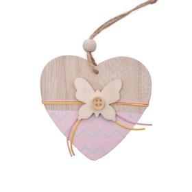 Heart Butterfly 8cm pink