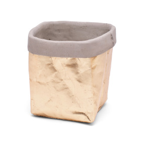 Ceramic Pot Kathia 14x13.3cm H14.5cm gold