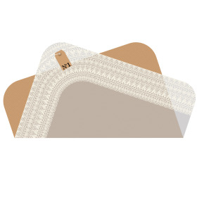 Sheet Vintage Lace pre-folded 75x75cm white
