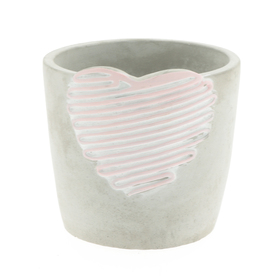 Beton pot Love Signature ES12 licht roze