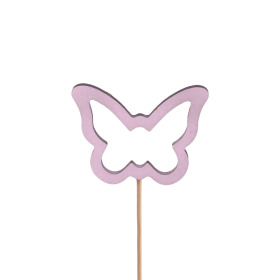 Butterfly Melissa 7.5cm on 50cm stick lilac