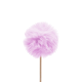 Fluffy Ball 5cm on 10cm stick lilac