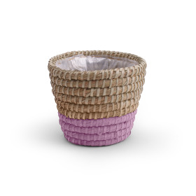 Pot Basket Moroccan 5.7 in mauve
