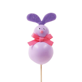 Funny Rabbit 8x4cm on 50cm stick purple
