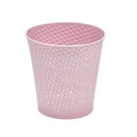 Zinc Pot Honeycomb Ø6 H5.7in pink