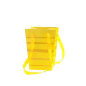 Draagtas Ellen 15/15x11/11x20cm FSC Mix geel