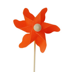 Windmill Solid 2.75in on 20in stick orange - Colombia only