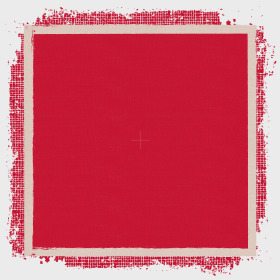 Vintage Rag 24x24 in red H3