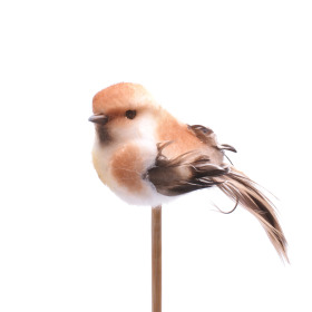 Bird Tommy  6.5cm on 50cm stick brown