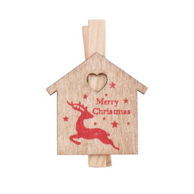 Christmas Clip Home Sweet Home 5cm naturel