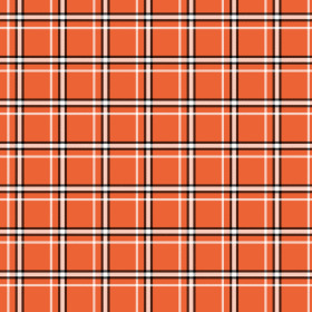 Nonwoven Plaid 20x20in orange