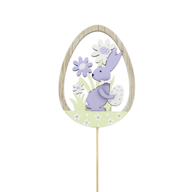 Bunny Atwell 8cm op 50cm stok FSC Mix paars