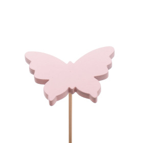 Baby Butterfly 4.5cm on 10cm stick pink