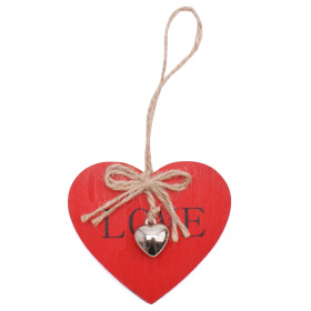 Heart Little Love 3x2.75in on 20in stick red