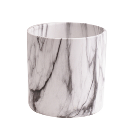 Ceramic pot Marble ES12 black/white