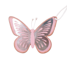 Vlinder Tess 9cm roze