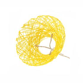 Boekethouder Paperweb Ø25cm geel