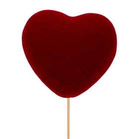 Heart Eros 5cm on 50cm stick red