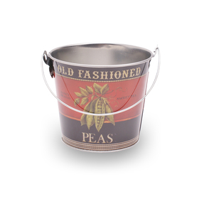 Bucket zinc Old Fashioned Peas Ø12.8cm H:11.5cm