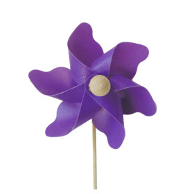 Windmill Solid 3.5 in on 20 in stick lavender
