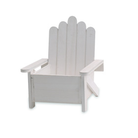 Wooden Beach Chair 18x18 H7 TH21cm white