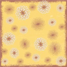 Flower Field 24x24in yellow