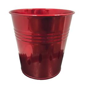 Tin Pot 4.5in red metallic