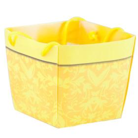 Carrybag waterproof folded Napoli 10x11/11x9/9cm yellow