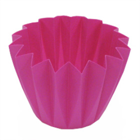 Cupcake container 5.5 in hot pink (azalea)