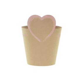 Potcover Love Sign ES12 FSC Mix pink