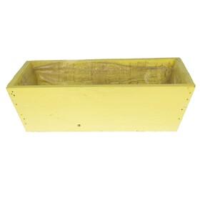 Wooden planter 26x15x8.5cm yellow