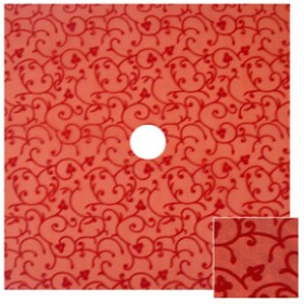 Organza Baroque 24x24 in red with hole