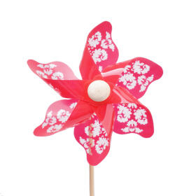 Windmill Jazz 9cm on 50cm stick red