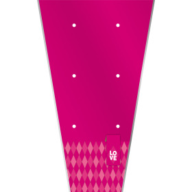 Plant sleeve Diamond Love 62x35x12cm cerise