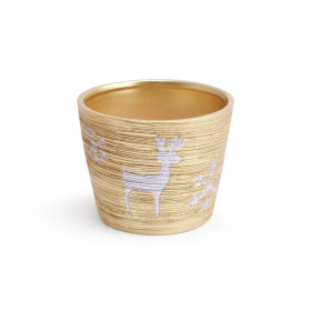 Ceramic Pot Caribou  ES10.5 gold