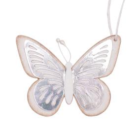 Vlinder Tess 9cm wit