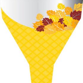 Fall Basket 21x17x5 in yellow