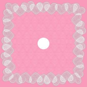 Vintage Love 24x24 in pink H3