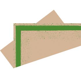 Voorgevouwen vel Kirsten 75x75cm FSC Mix groen