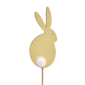 Sweet Bunny 7cm on 10cm stick yellow