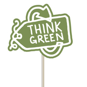 Think green 4x3.5 in on 20 in stick