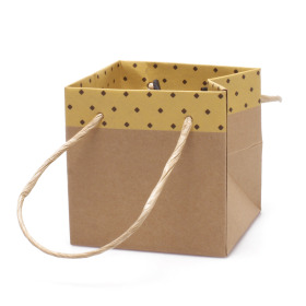 Carton bag Sophie 10x10x10cm yellow