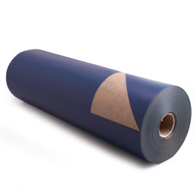 Kilo Brown Kraft 60cm/50g. on roll darkblue p/kg