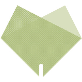 Hoes Doublé Daily 40x40cm groen
