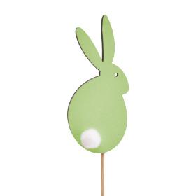 Haas Sweet Bunny 7cm op 10cm stok groen