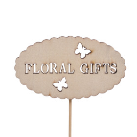 Floral Gifts 8.5cm on 10cm stick natural