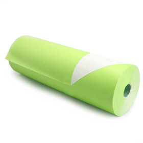 Kilo White Kraft 50cm/50g. on roll lime green p/kg